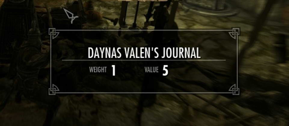 & The Elder Scrolls V Skyrim Read Daynas Valen notes in Folgunthur